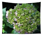 Lime-green Hydrangea Tapestry