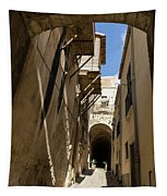 Limestone And Sharp Shadows - Old Town Noto Sicily Italy Tapestry