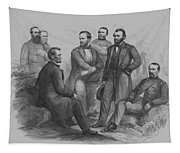 Lincoln And His Generals Tapestry