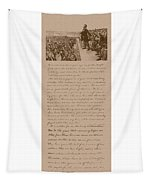 Lincoln And The Gettysburg Address Tapestry