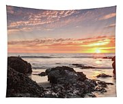 Lincoln City Beach Sunset - Oregon Coast Tapestry