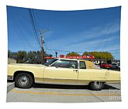 Lincoln Continental At Brint's Diner Tapestry