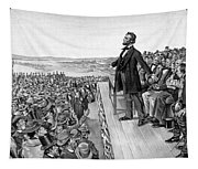 Lincoln Delivering The Gettysburg Address Tapestry