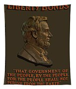 Lincoln Gettysburg Address Quote Tapestry