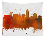 Lincoln Nebraska Colorful Skyline Tapestry