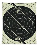 Line Art Rifle Range Tapestry