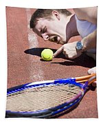 Line Ball Call Tapestry