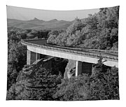 Linn Cove Viaduct Black And White Tapestry