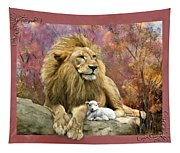 Lion And The Lamb Tapestry