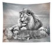 Lion Resting  Tapestry