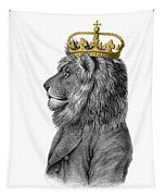 Lion The King Of The Jungle Tapestry
