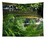Listen To The Babbling Brook - Green Summer Zen Tapestry