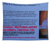 Little Ballerina By Carole Spandau Featured In Award Winning Online Article On Good Posture Mar 2010 Tapestry