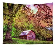 Little Barn In The Smokies Tapestry