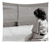 Little Baseball Brother Tapestry