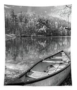 Little Bit Of Heaven Black And White Panorama Tapestry