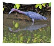 Little Blue Fishing Tapestry