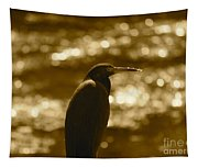 Little Blue Heron In Golden Light Tapestry