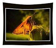 Little Brown Skipper Butterfly Tapestry