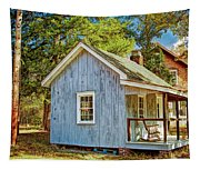 Little Cabin In The Country Pine Barrens Of New Jersey Tapestry