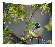 Little Chickadee In The Pink Tapestry