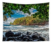 Little Cove On Hawaii' Tapestry