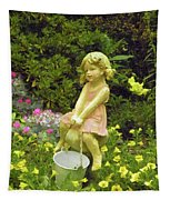 Little Girl With Pail Tapestry