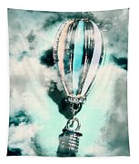 Little Hot Air Balloon Pendant And Clouds Tapestry