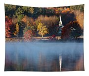 Little White Church On Crystal Lake Tapestry