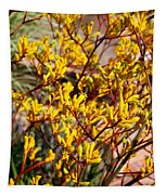 Little Yellow Flowers Tapestry