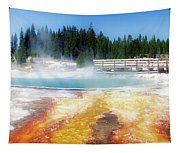Live Dream Own Yellowstone Park Black Pool Text Tapestry