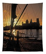 Liverpool, England View From Albert Dock Tapestry