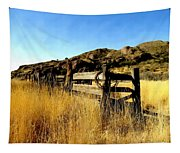Livery Fence At Dripping Springs Tapestry