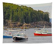 Lobster Boats In Bar Harbor Tapestry