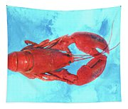 Lobster On Turquoise Tapestry