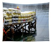 Lobster Traps In Winter Tapestry