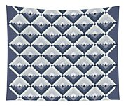 Log Cabin Blues Quilt Tapestry