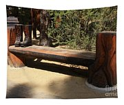 Logger Bench In Oregon Tapestry