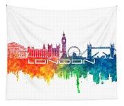 London Skyline City Color Tapestry