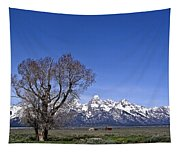 Lone Tree At Tetons Tapestry