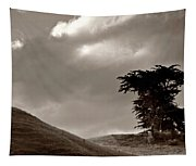 Lone Tree On A New Zealand Hillside Tapestry