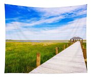 Lonely Pier II Tapestry