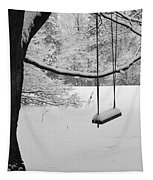 Lonely Winter Swing Ipswich Ma Tapestry