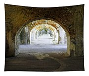 Long Hall At Fort Pickens Tapestry