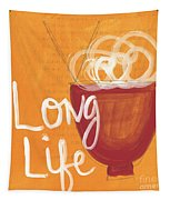 Long Life Noodle Bowl Tapestry by Linda Woods