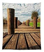 Long Long Way To The Bayou - Louisiana Dock Tapestry