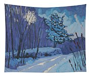 Long Reach Snow Day Tapestry