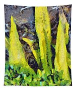 Long Yellow Leaves Tapestry