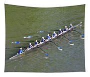 Longboat - Rowing On The Schuylkill River Tapestry