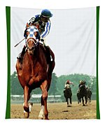 Looking Back, 1 1/2 Mile Belmont Stakes Secretariat 06/09/73 Time 2 24 - Painting Tapestry
